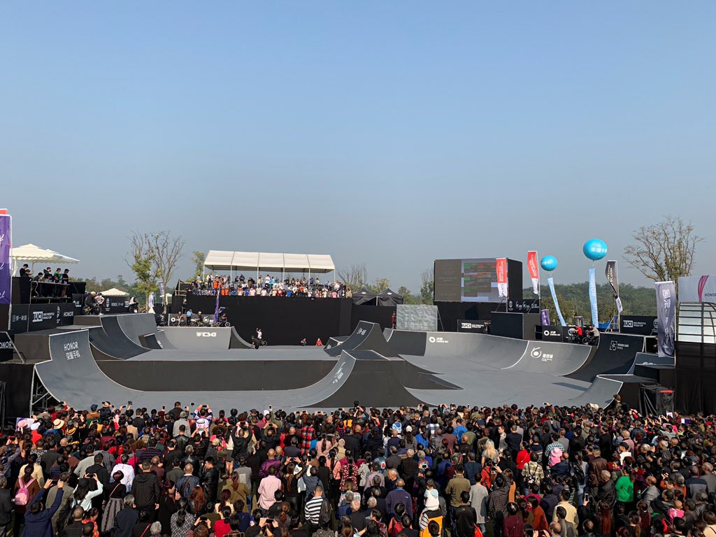 Roberts edges rival in BMX freestyle qualification at FISE World Series in Chengdu