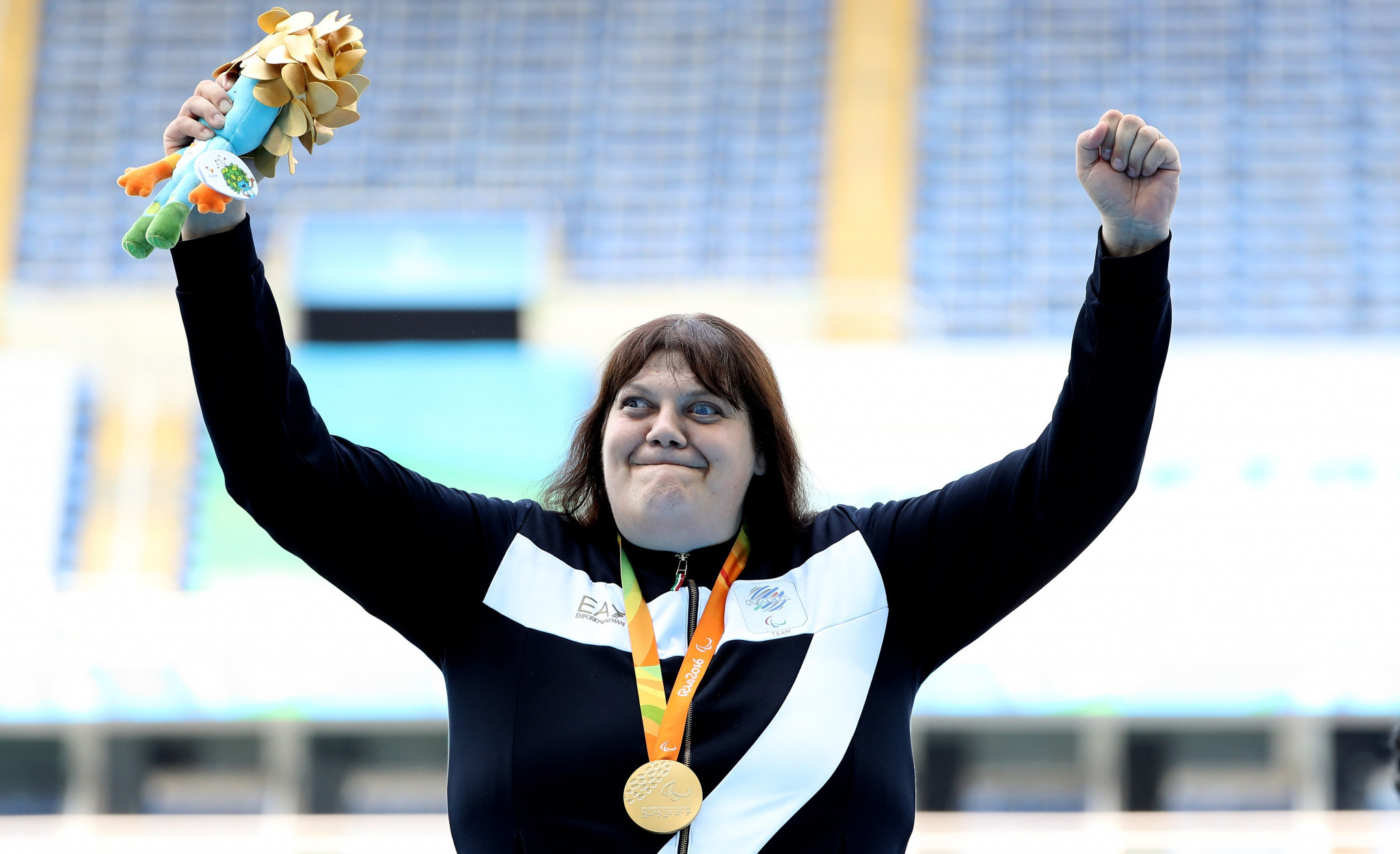 Italy's Paralympic champion Assunta Legnante won the women's shot put F11-37-38-41 at the 2018 Ancona Winter Challenge ©Getty Images