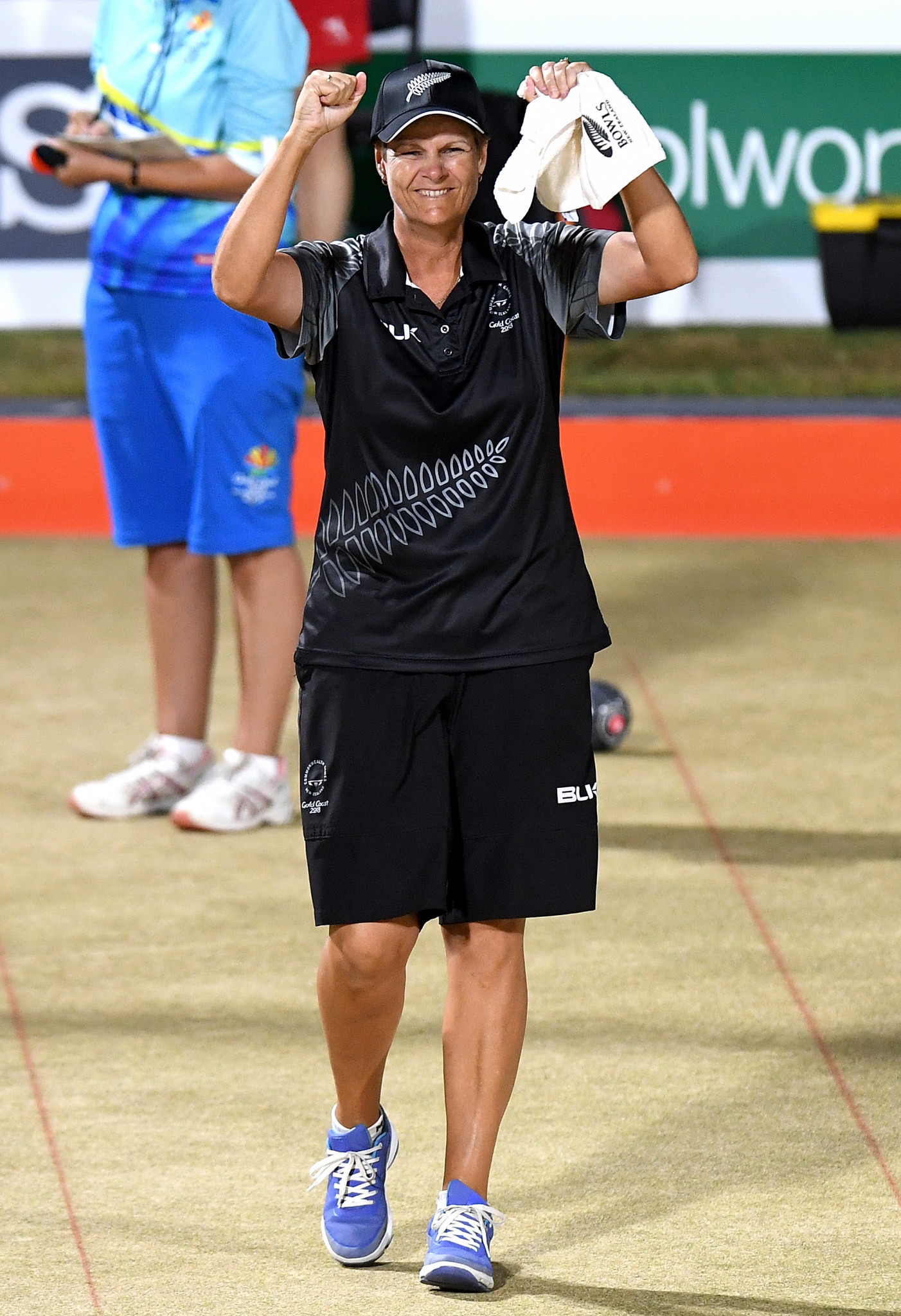 Jo Edwards of New Zealand has finished top of the women's section one at the World Bowls Singles Champion of Champions to automatically qualify for the semi-finals ©Getty Images