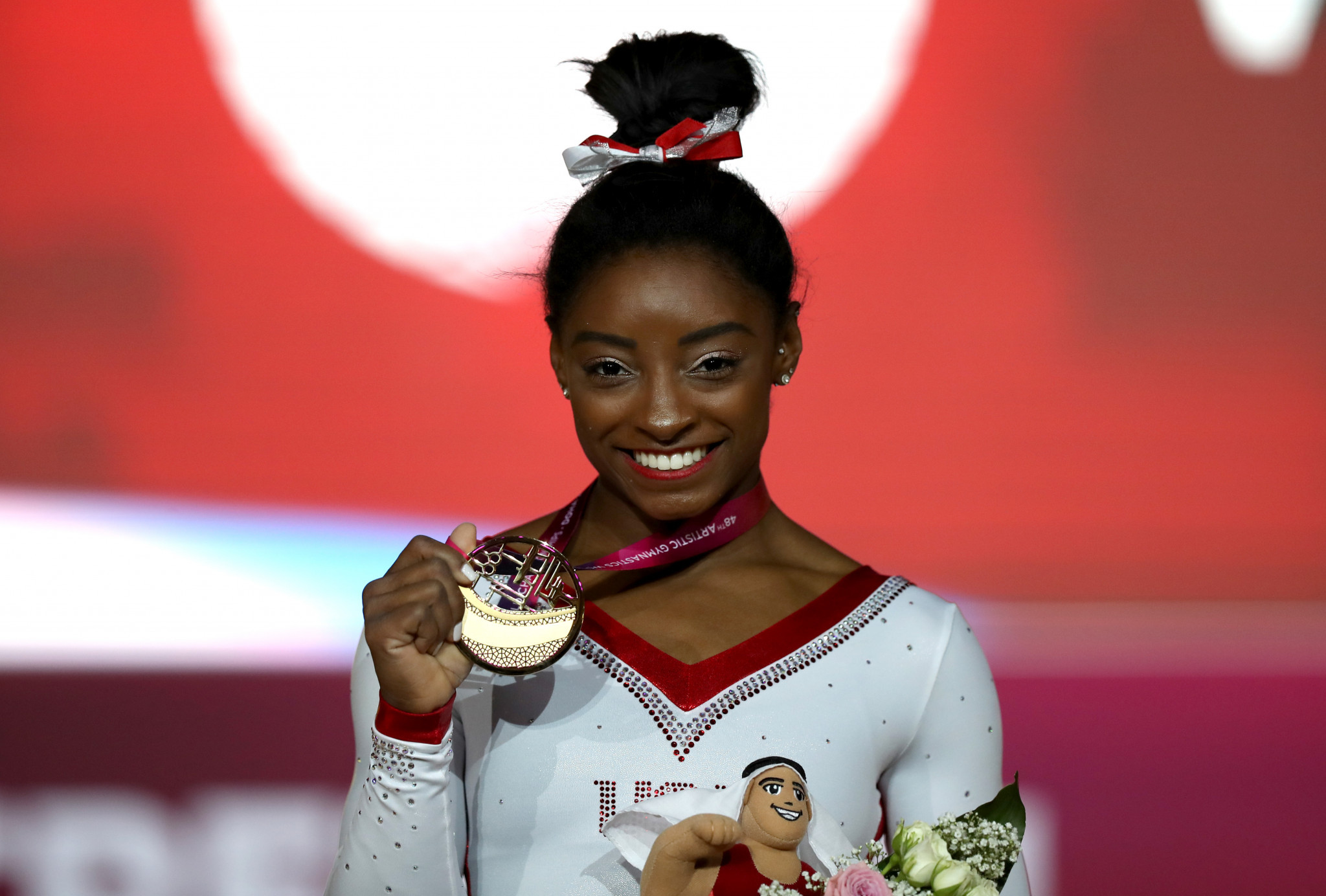 Biles wins record 13th gold medal with vault success at the Artistic Gymnastics World Championships
