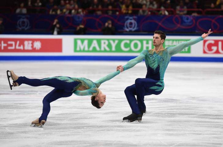 Nicole Della Monica and Matteo Guarise of Italy made a good start to the pairs event as they headed the short programme competition in Helsinki ©Getty Images