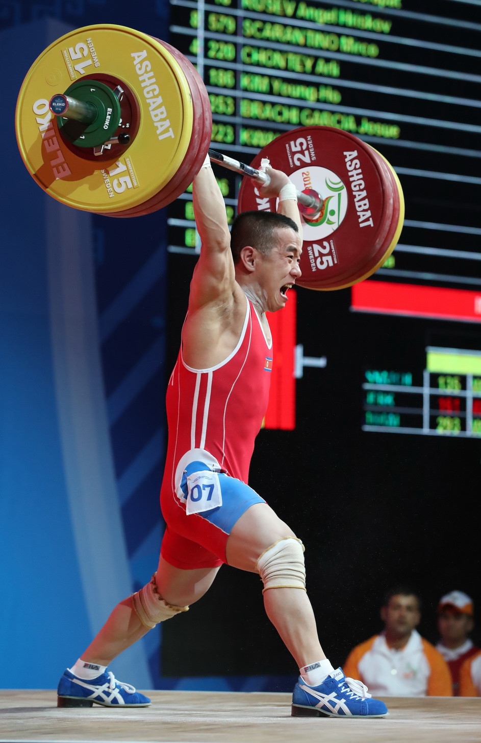 Om breaks clean and jerk world standard on way to clinching clean sweep of titles at 2018 IWF World Championships