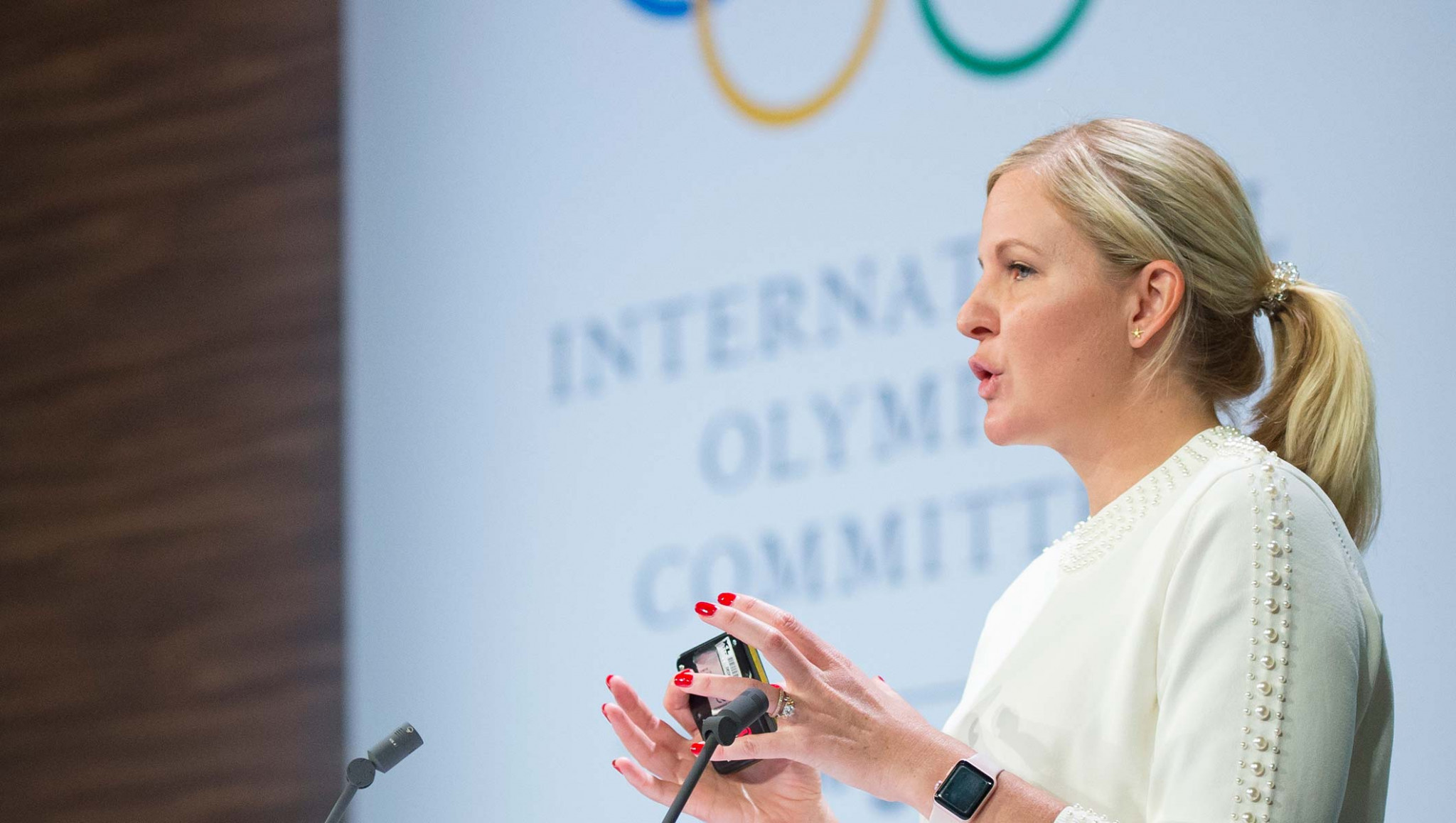 Kirsty Coventry also serves as Zimbabwe's Sports Minister