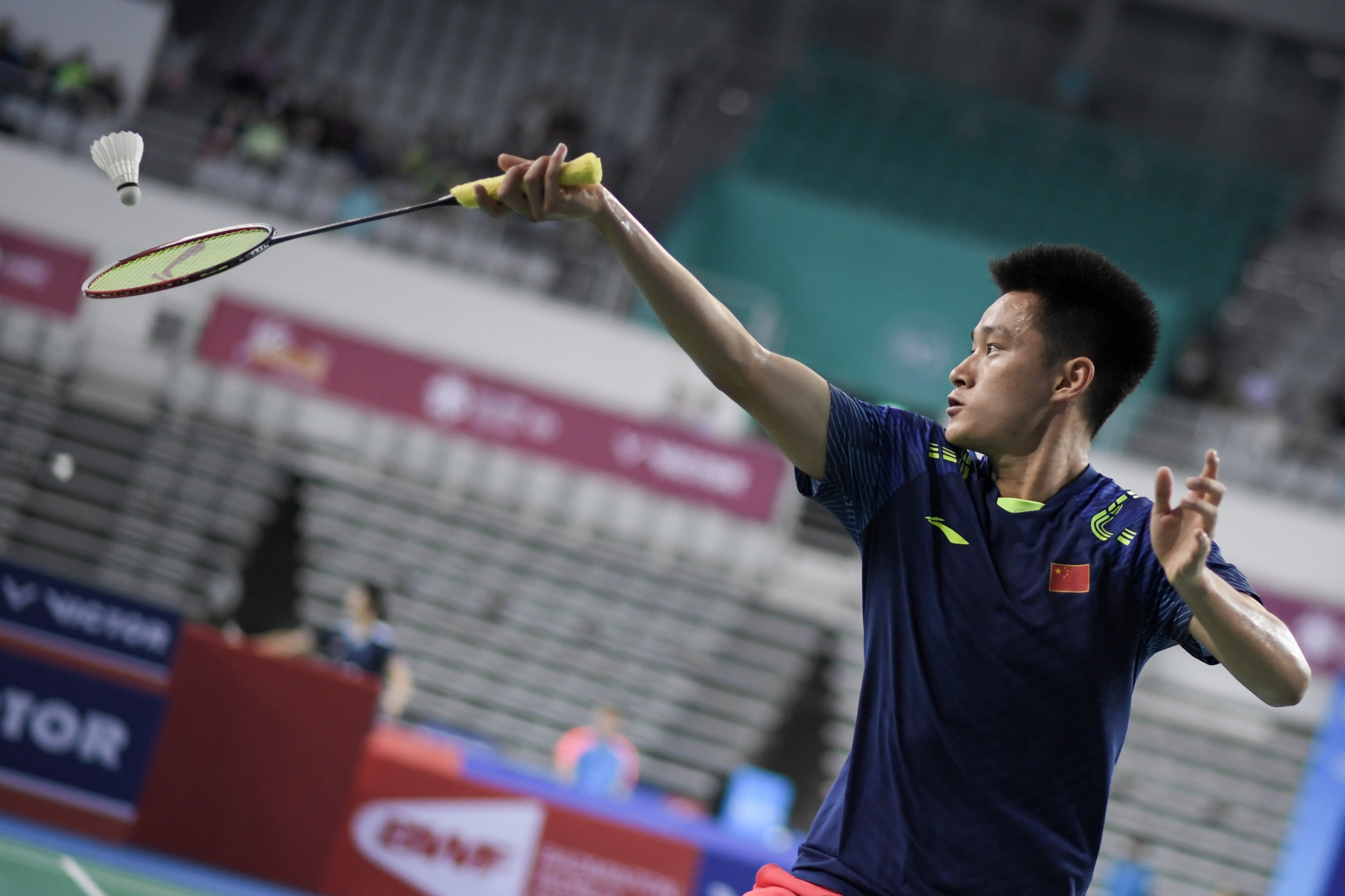China's qualifier Zhou Zeqi has reached the BWF Macau Open men's singles final ©Getty Images