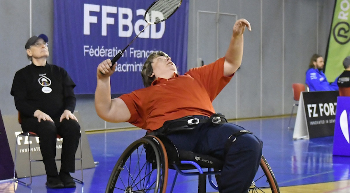 Scotland's Fiona Ritchie reached the semi-finals of the women's singles wheelchair event at the European Para-Badminton Championships in France ©BWF