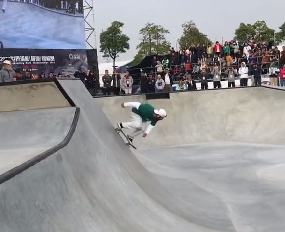 Barros peaks to claim men's gold at inaugural Park Skateboarding World Championships