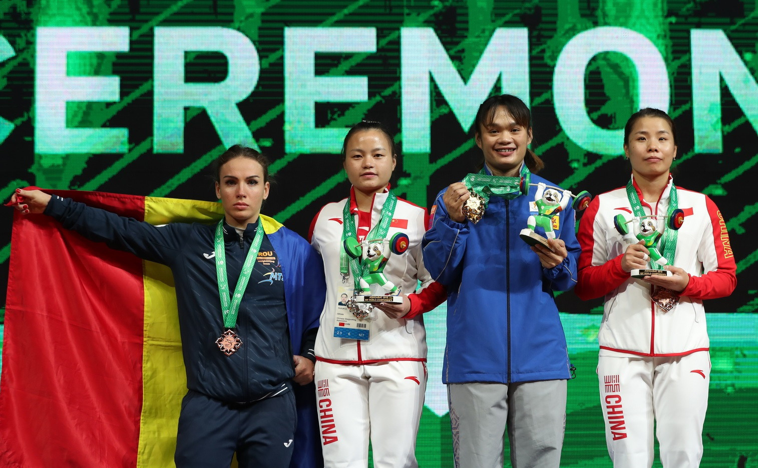 Thailand's Sukanya Srisurat achieved world standards in the snatch, clean and jerk and total to secure a hat-trick of women's 55 kilograms gold medals on day three of the 2018 IWF World Championships in Ashgabat ©IWF