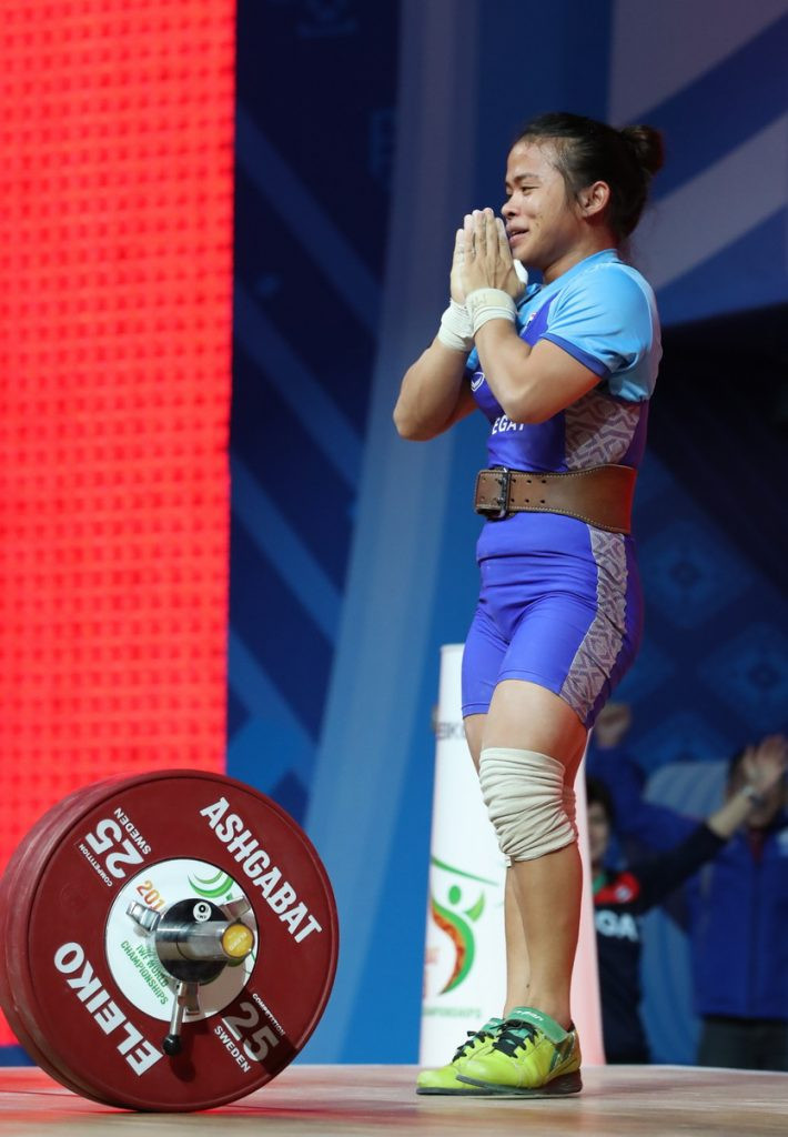 Thailand's Chayuttra Pramongkhol set world standards on her way to winning the women's 49kg clean and jerk and overall gold medals ©IWF