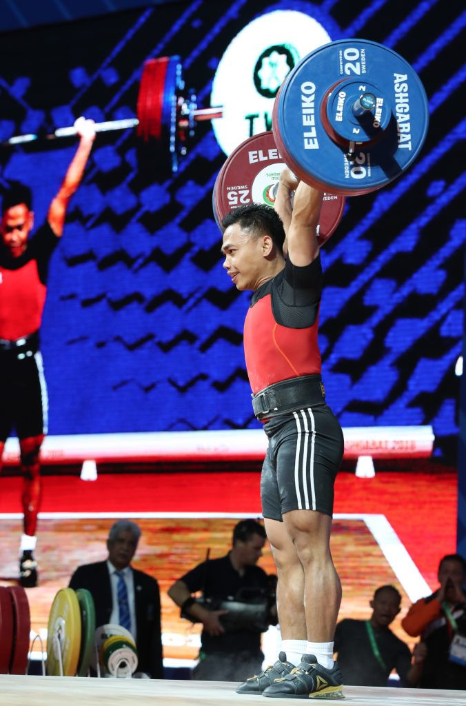 Indonesia's Eko Yuli Irawan claimed a clean sweep of gold medals in the men's 61kg category ©IWF