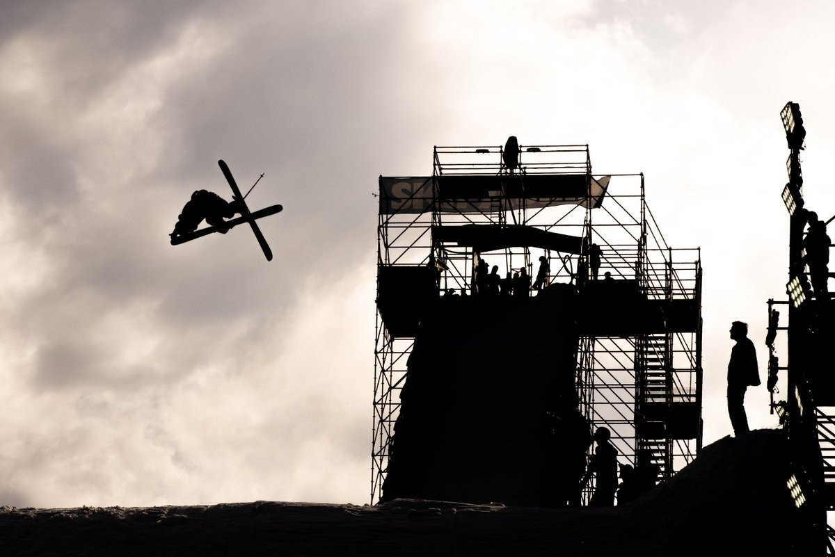 The International Ski Federation Freestyle Skiing and Snowboard World Cups in Modena are being held on Italy's largest big air ramp ©FIS