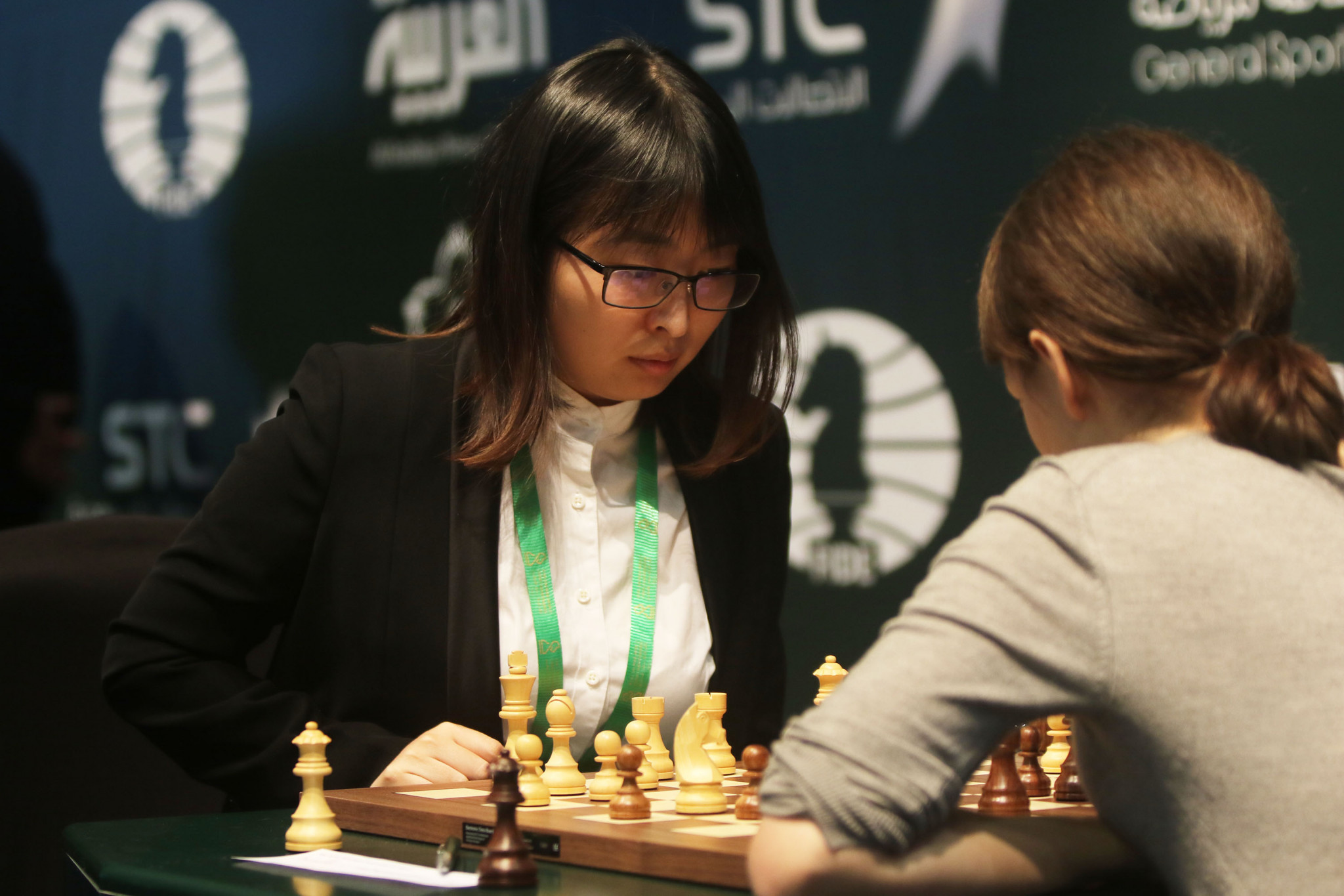 Ju past first hurdle as she defends title at Women's World Chess Championships