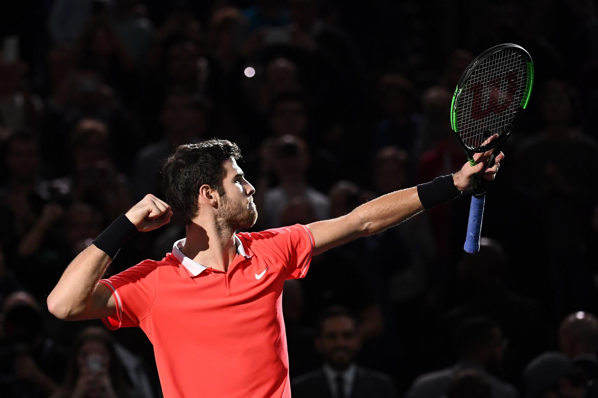 Russia's Khachanov shocks Djokovic to win Paris Masters title
