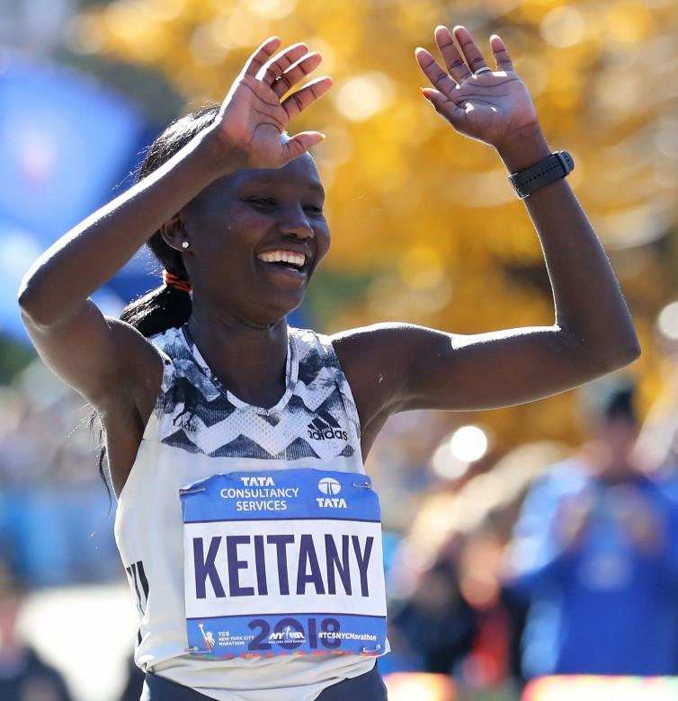Keitany blitzes to fourth New York City Marathon win as Desisa claims men's prize