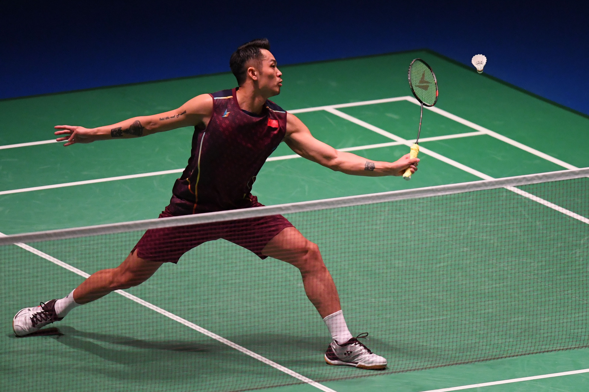 Lin Dan is a two-time Olympic champion and will play the reigning world champion in round one ©Getty Images