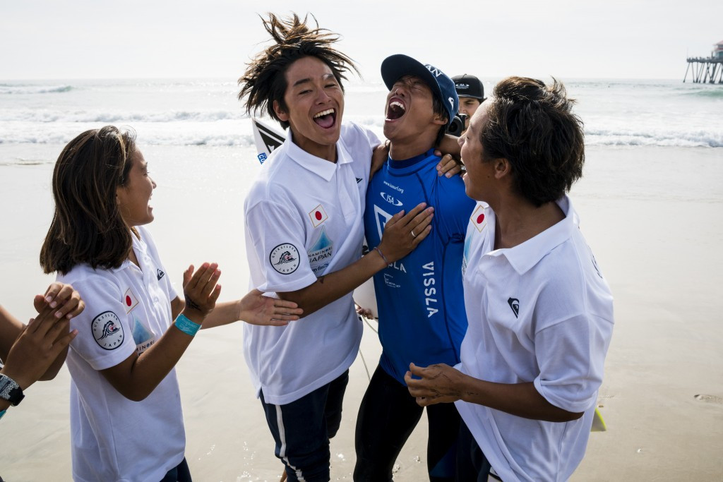 Kamiyama's final flourish earns Japan historic first team gold at ISA World Junior Surfing Championships