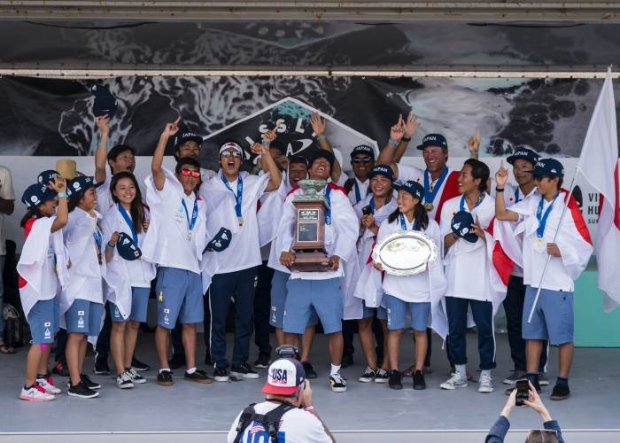 Gold and silver in the concluding boys' under-18 final meant Japan earned its first team gold at the ISA World Junior Surfing Championships at Huntingdon Beach, California ©ISA