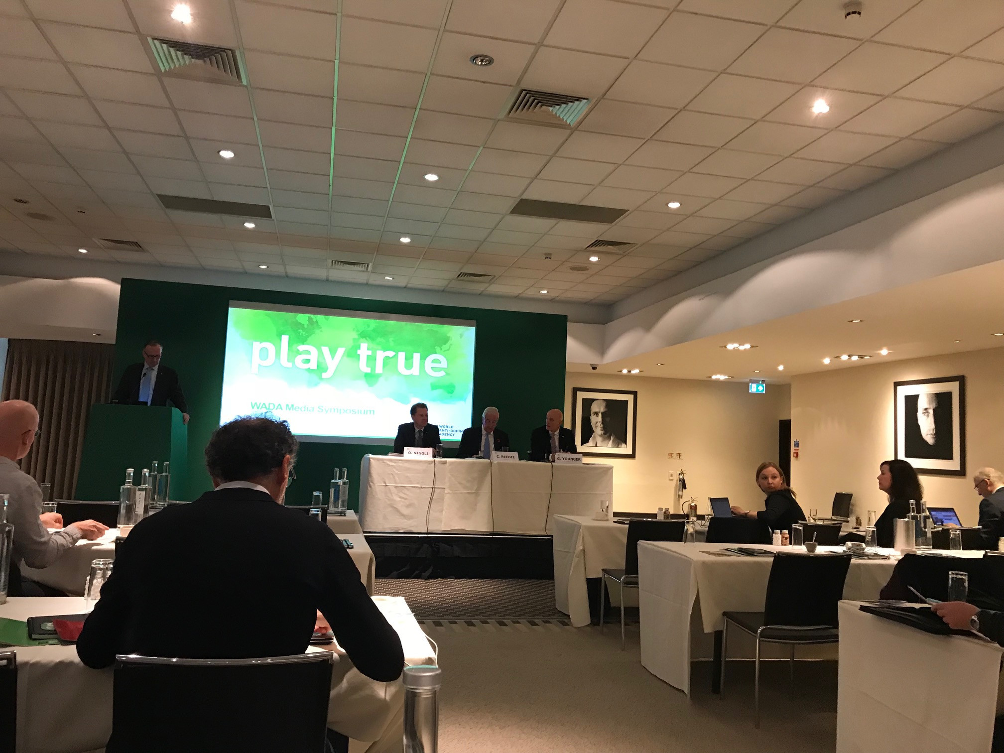 The trio of officials present at the symposium presented a united front against attacks on WADA ©ITG