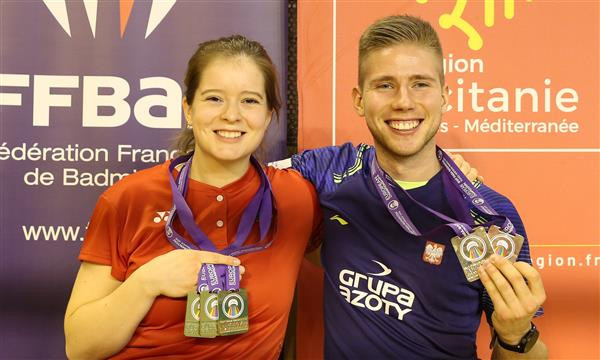 Mroz and Knoblauch secure memorable triumphs as action concludes at European Para-Badminton Championships
