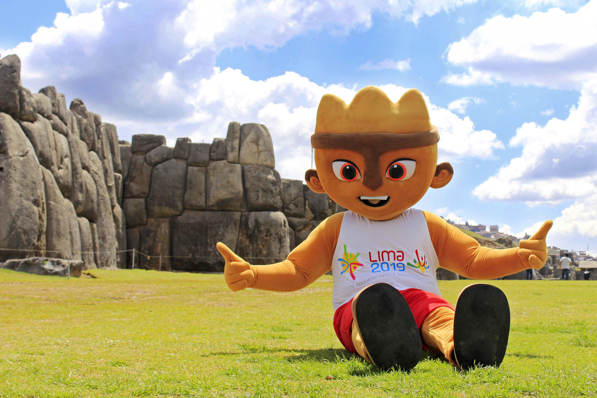 Lima 2019 mascot visits Cusco to spread enthusiasm for Pan American and Parapan American Games