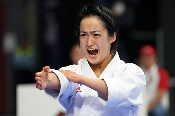 Japan's Kiyou Shimizu will have the chance to secure a third straight world title at the weekend ©WKF