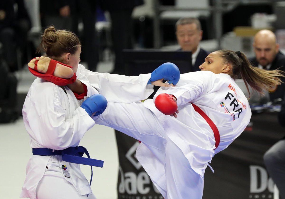 Action also began in four kumite weight categories ©Twitter