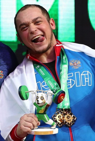Artem Okulov secured Russia their first two medals of the 2018 International Weightlifting Federation World Championships by winning the men's 89 kilograms clean and jerk and total golds in Ashgabat ©IWF