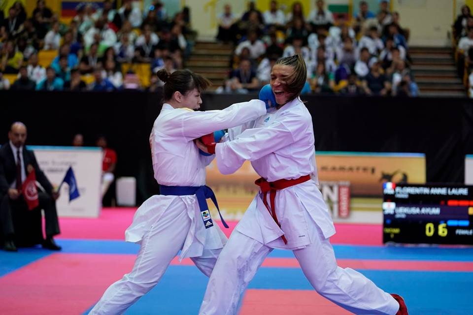 Ayumi Uekusa of Japan and Eleni Chatziliadou of Greece will clash for gold in a repetition of the final of two years ago in Linz ©WKF