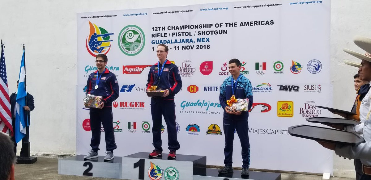 The United States have had a very successful championships, winning three golds yesterday ©USA Shooting