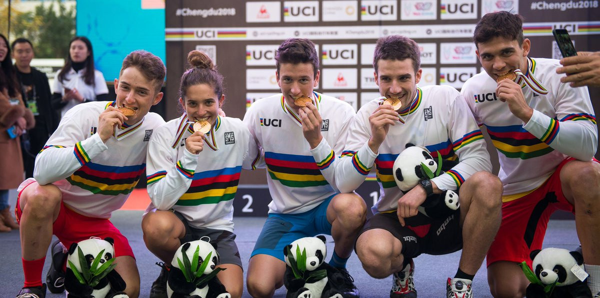 Spain clinch team trials title as UCI Urban Cycling World Championships begins