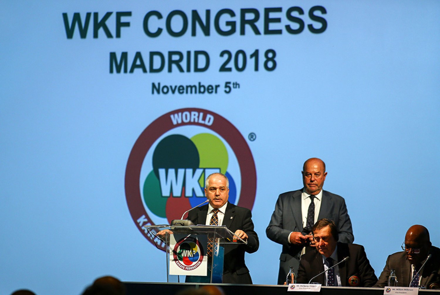 The WKF President said the award was for the entire karate family ©WKF
