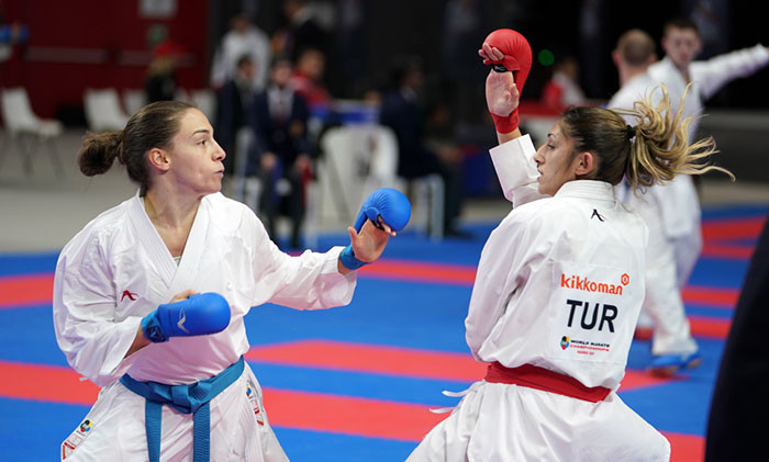 Serbian Jovana Preković conquered Egypt's defending champion Giana Lotfy in the women's under-61kg of the Karate World Championships before going on to reach the final in Madrid ©WKF