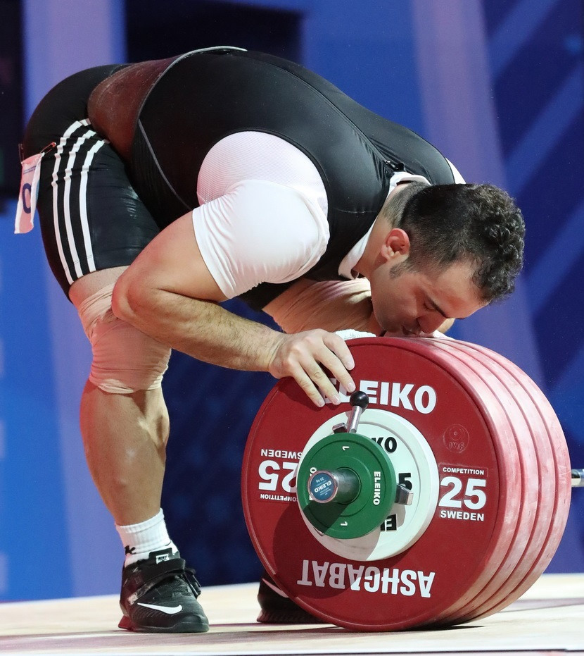 Rio 2016 Olympic gold medallist Sohrab Moradi dominated the men's 96 kilograms category on day seven of the 2018 International Weightlifting Federation World Championships in Ashgabat ©IWF