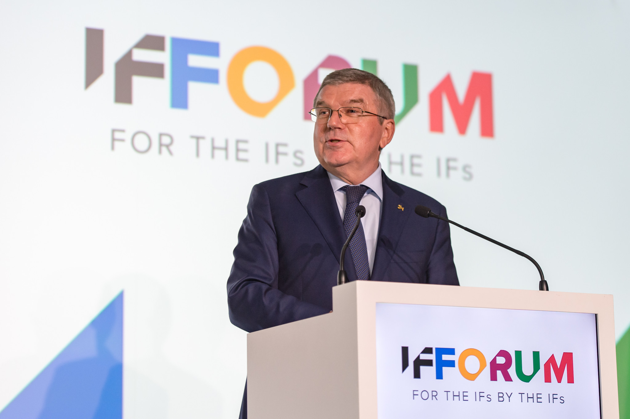 IOC President Thomas Bach opened the IF Forum ©SportAccord