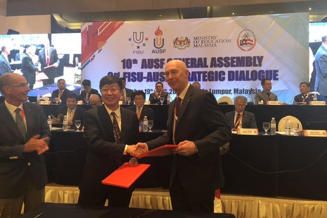 The Asian University Sport Federation and FISU Oceania have signed a Memorandum of Understanding allowing athletes from each region to compete at the same events ©UTSNZ
