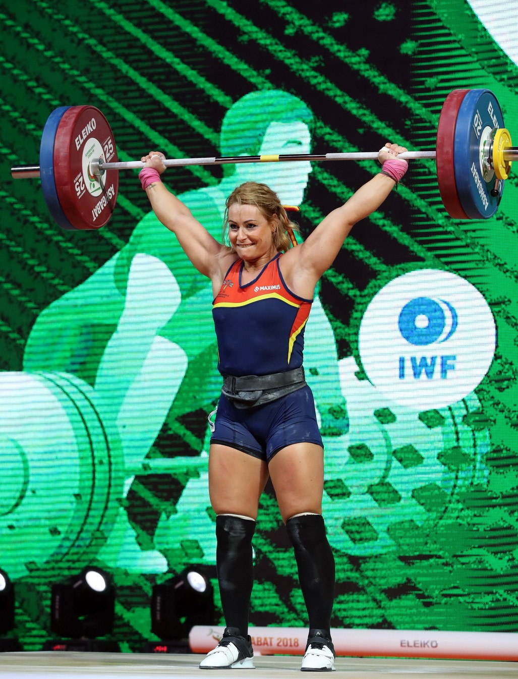 Spain's Lidia Valentín came out on top in the women's 81kg division ©IWF