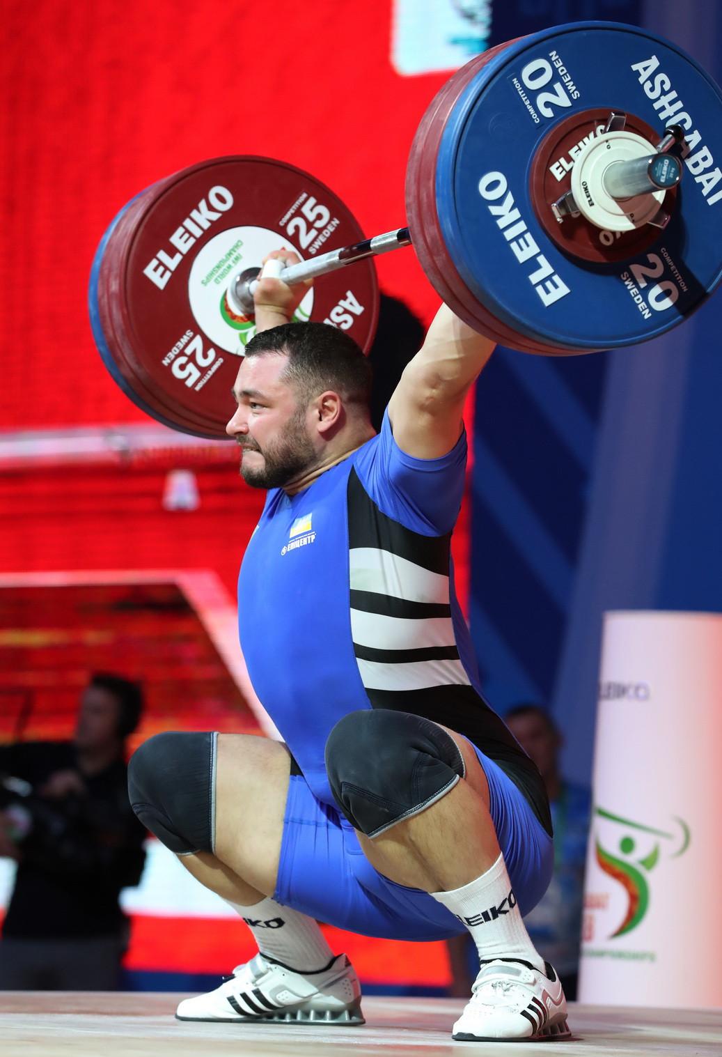Ukraine's Dmytro Chumak was the overall silver medallist with 393kg ©IWF
