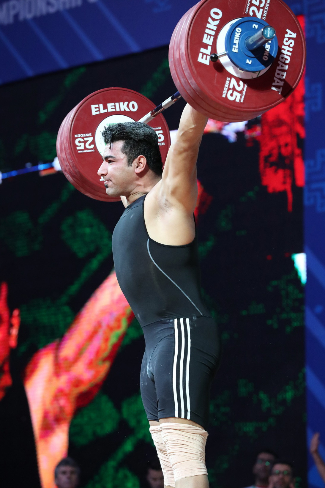 Hashemi secured his triumph with a total of 396kg ©IWF