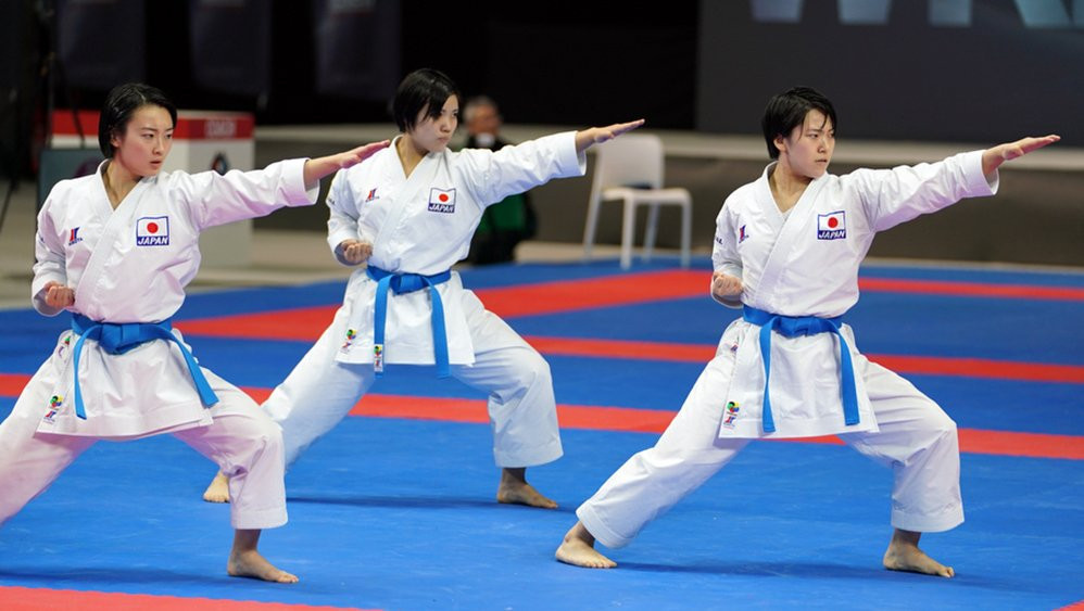 Japan's women were again in dominant form on day three ©WKF