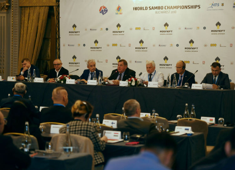The International Sambo Federation held its annual Congress in Bucharest today ©FIAS