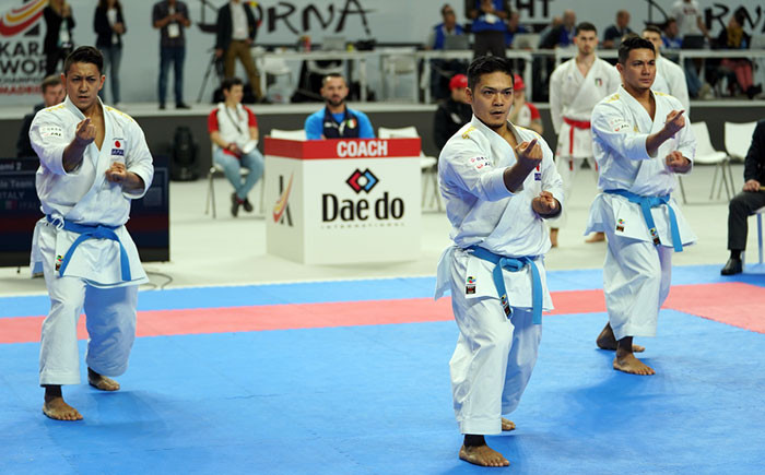Para events and team kata qualification headline day three at Karate World Championships