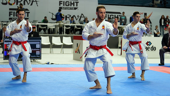 Spain stand in the way of Japan sweeping the kata gold medals on offer in Madrid ©WKF