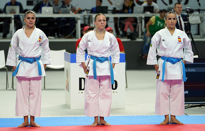 Victory for Spain's women in their semi-final sparked wild scenes of celebration ©WKF