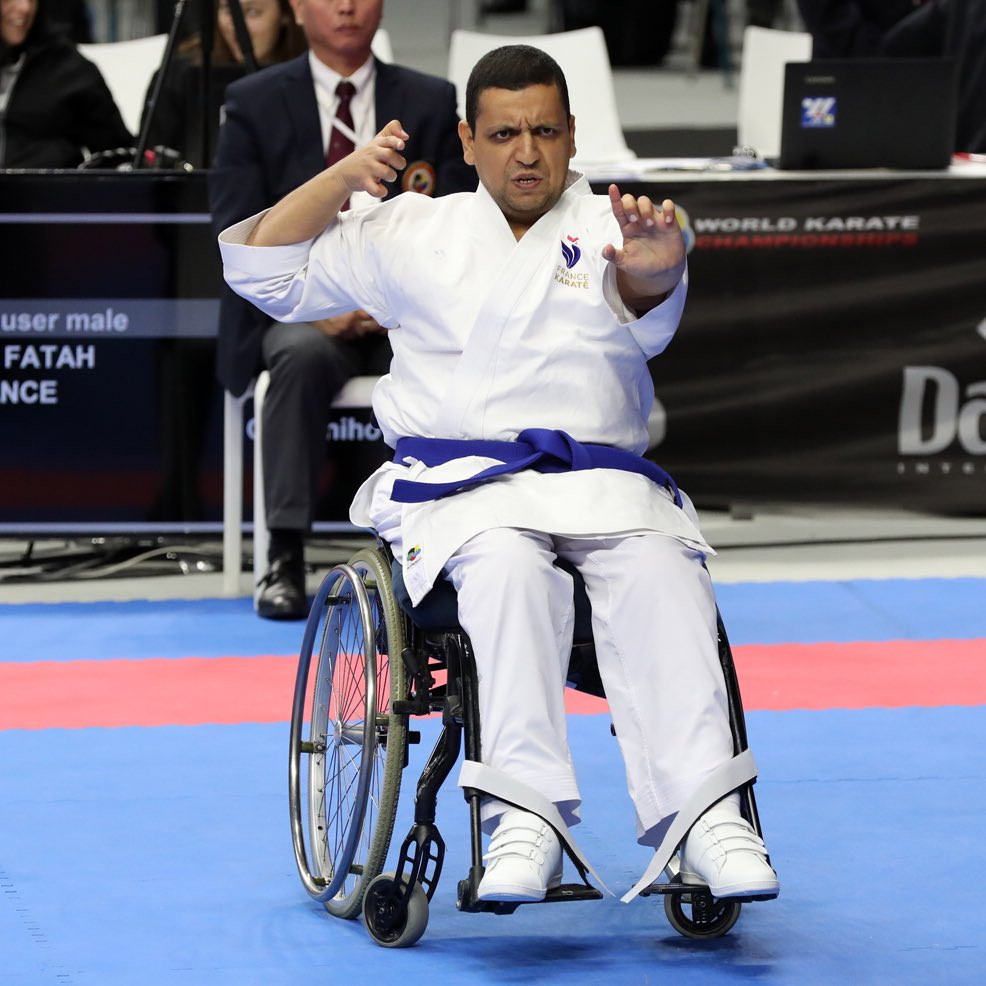 The first day of Para karate action saw 100 athletes compete across three categories ©Twitter