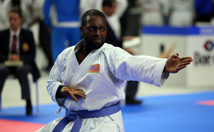 As well as wheelchair events, Para karate athletes took to the tatami in visually and intellectually impaired competitions ©WKF