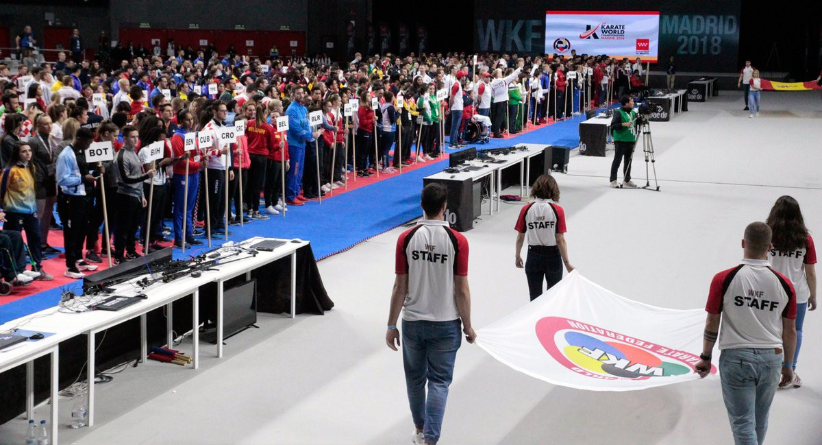 Athletes from competing nations took part in a parade ©Twitter