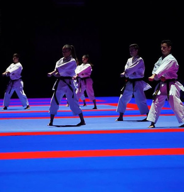 A demonstration of kata was one of the highlights of the ceremony ©WKF