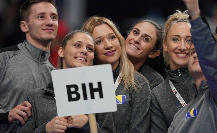 Athletes seemed to enjoy taking part in the short ceremony ©WKF