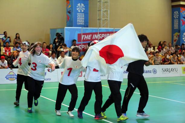 Japanese women's goalball team win IPC Allianz Athlete of the Month award for October