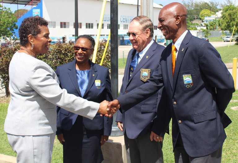 Governor General visits Barbados Olympic Association