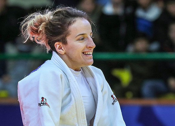 Distria Krasniqi contributed to Kosovo's golden double on the first day of competition in Tashkent ©IJF